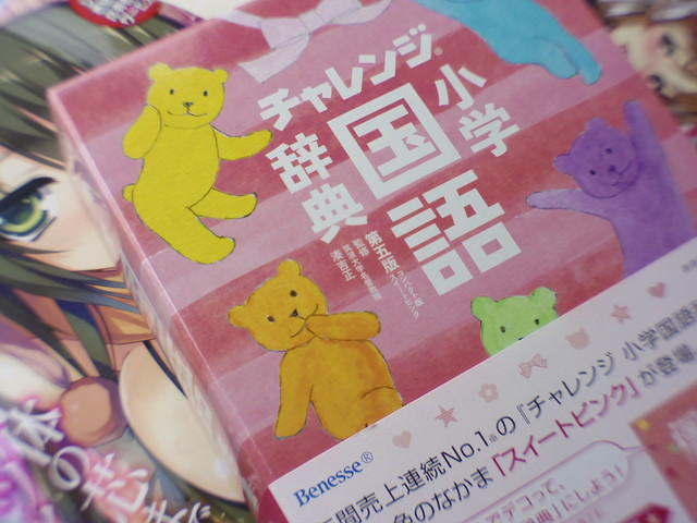 I got a Japanese dictionary for elementary school girls.