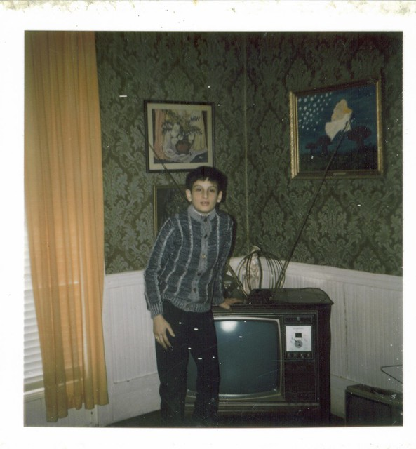 Tony Mod Sweater In 1972 Polaroid 70s Tv Living Room