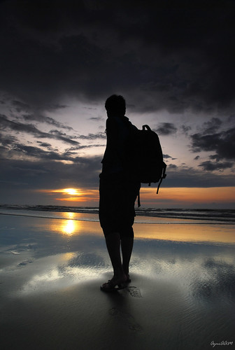 sunset beach myself nikon malaysia borneo tamron sabah d80 1750mm