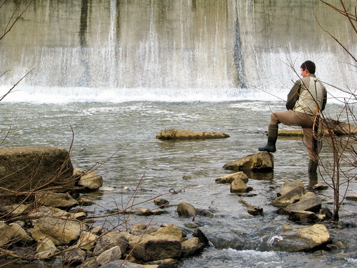 Fishing at the Walter Hill Dam