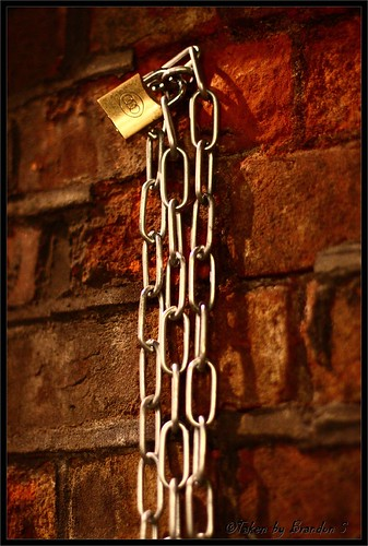 Chained to the wall...