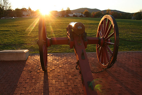 sunset monument statue virginia memorial thomas lexington military jackson institute va cannon stonewall vmi