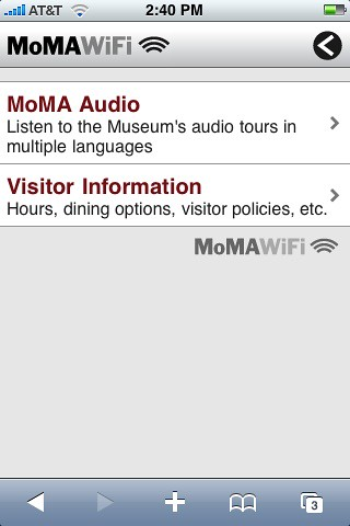 MoMa wifi captive portal