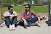 Wayne and Khalif on the bridge