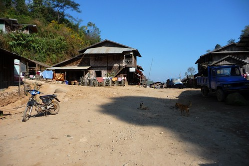 Truck Stop on the road to Bhamo, Myanmar Burma