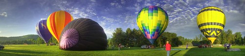 lighting county new york morning blue trees cambridge sky people newyork hot field clouds sunrise canon fun eos washington side balloon working panoramic hotairballoon launch hdr inflate lseries 40d