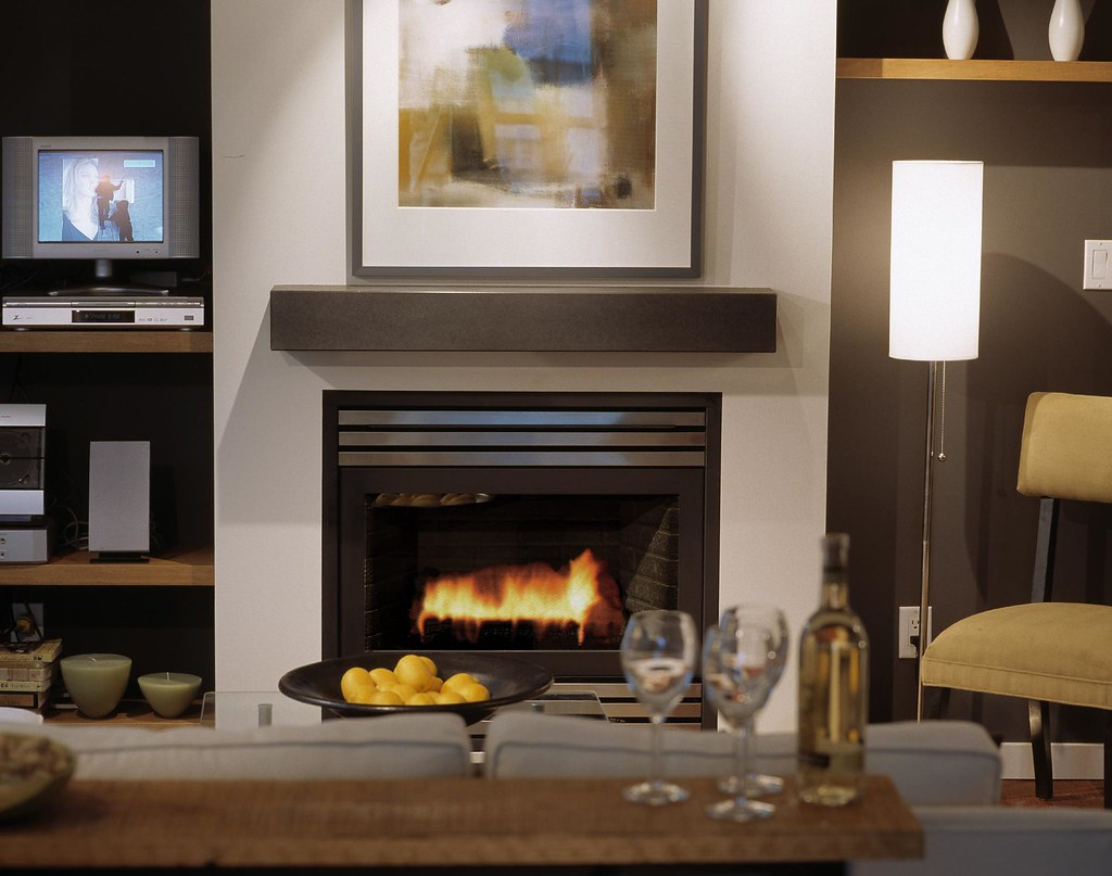 judd cinder cast concrete fireplace mantel photo by raef grohne