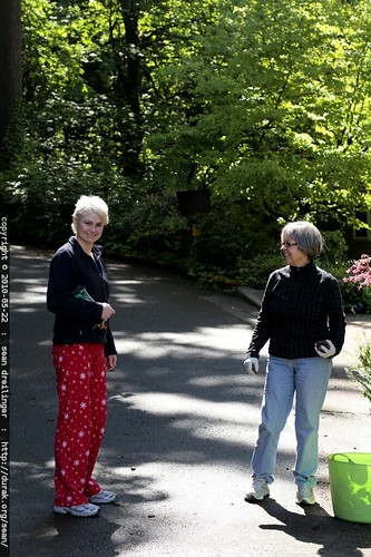 rachel greets neighbor paula at 4pm, while still in her pajamas