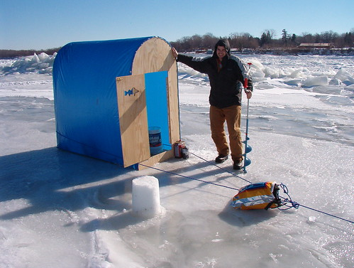 Image gallery homemade ice shanty for Ice fishing shelters