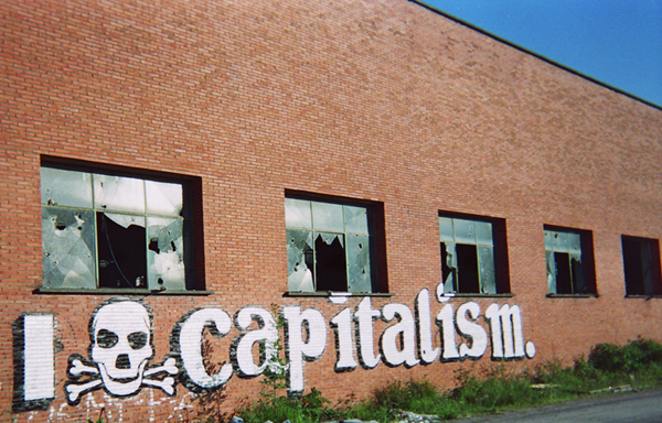 I love capitalism Communist graffiti art