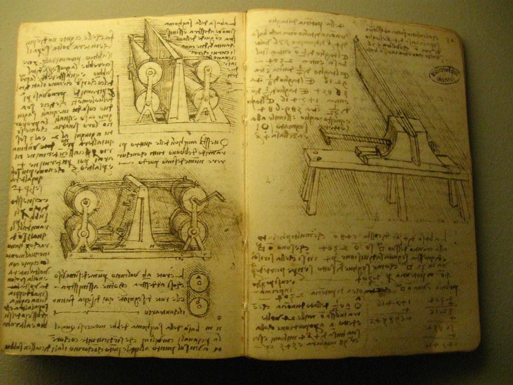 leonardo da vinci notebook inspiration gadgets and. Black Bedroom Furniture Sets. Home Design Ideas