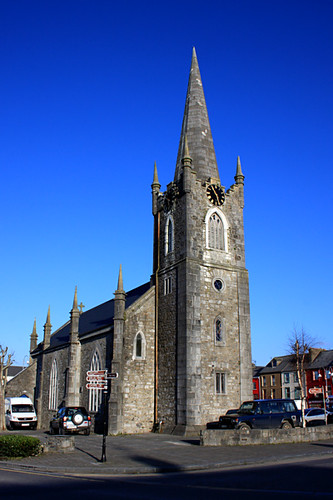 blue ireland sky irish church stone square grey town mason kerry callanan listowel markcallananphotography