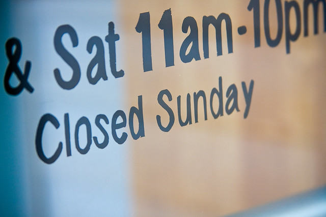 New Sunday Shopping Hours Effective August 1