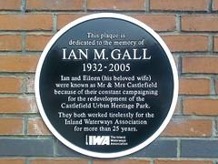 Photo of Ian M. Gall black plaque
