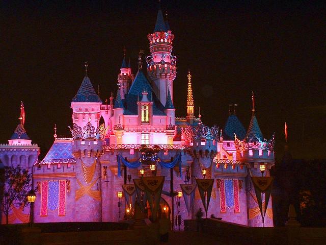 Disneyland Castle At Night Disneyland castle at n...
