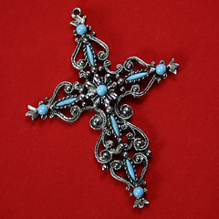 jewellery, cross, brooch, pendant,
