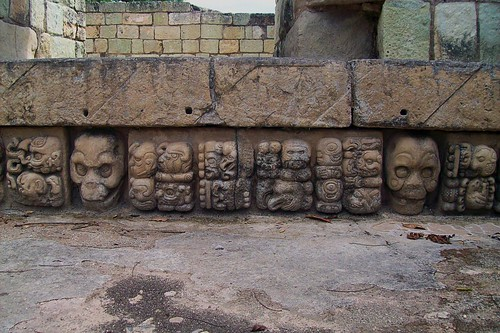 Adalberto.H.Vega's of carvings at Copán.