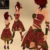 Sam's Secret WILD RED SNAKED Dress