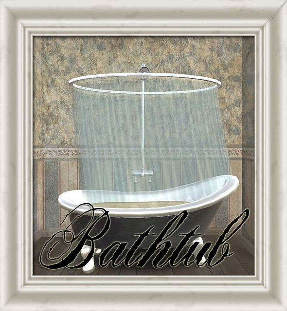 Shabby Chic Clawfoot Bathtub and Shower