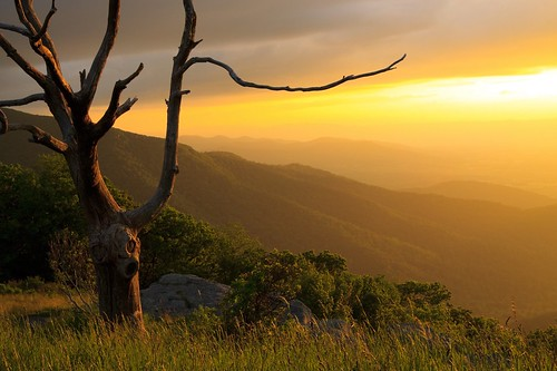sunset mountains virginia skylinedrive shenandoahnationalpark scenicviews