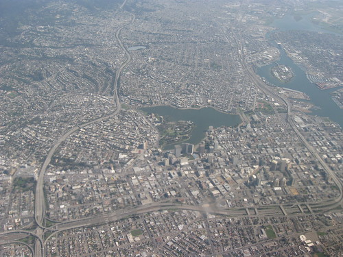 Aerial view of city of Oakland 1