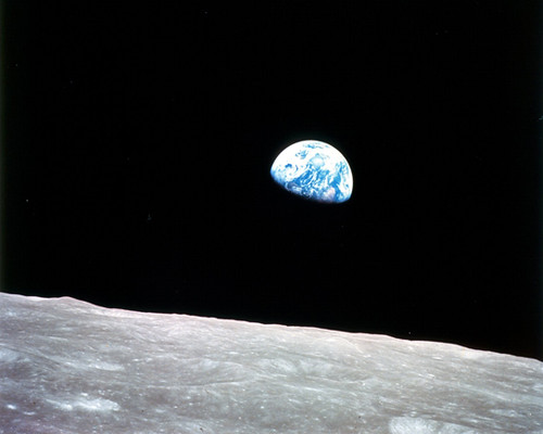 Earthrise, Seen From the Moon (NASA, Moon, 6/16/09)