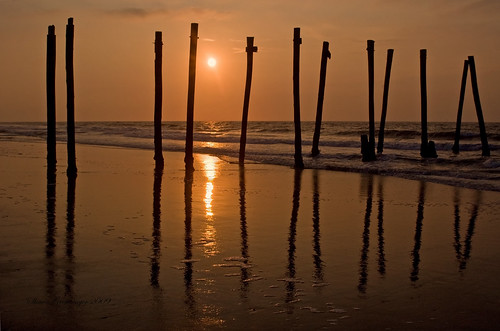 ocean old morning sky usa sun reflection beach broken clouds sunrise reflections d50 pier newjersey nikon ruins nj atlantic oceancity 2009 ocnj brokenpier superaplus aplusphoto old59thstreetpier