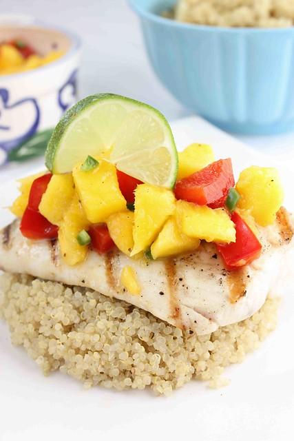 Grilled Mahi Mahi Recipe with Mango, Red Pepper & Lime Salsa | Flickr ...