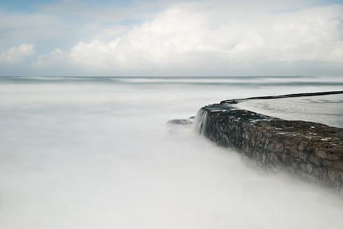 ocean morning sea cloud beach water pool sunrise landscape tide biosphere atlantic erosion seashore azenhasdomar d80 physicalweathering 01fev09