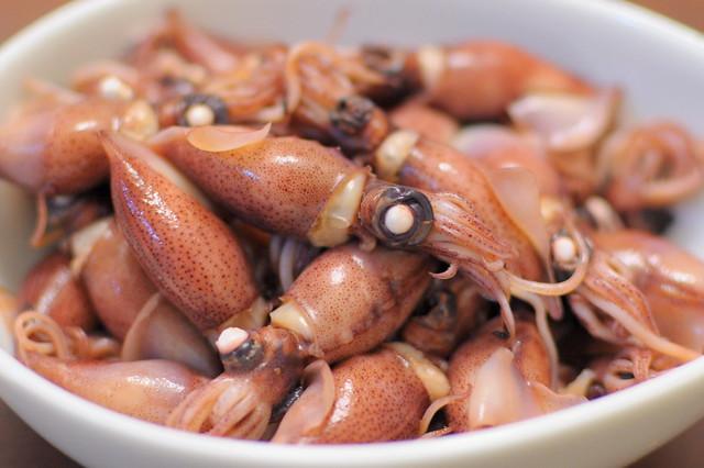 boild firefly squids