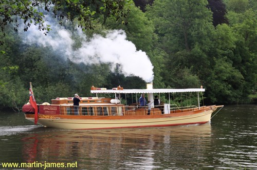 2009-05-25- 107 v1 (wm) Steam Launch Alaska on River Thames nr Marlow