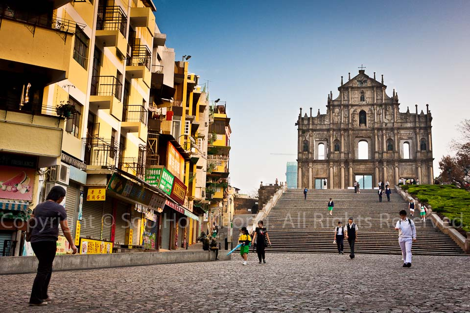 Macau - Attraction - Ruins of St. Paul's