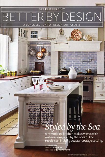 Blue White Kitchen White Cabinets White Marble Island