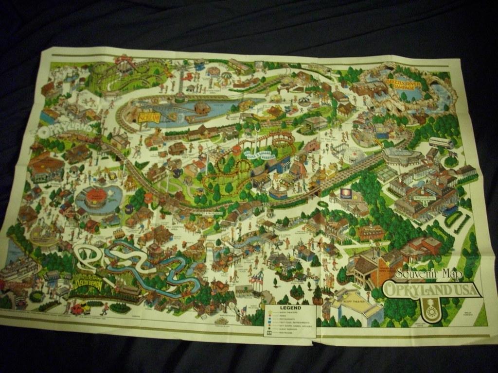 Opryland Usa Map.1989 Opryland Map Opryland Was A Amusement Park In Nashvil Flickr