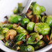 Roasted Brussels Sprouts with Garlic Chips