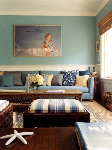 Home Improvement: Living Rooms In Blue And Brown