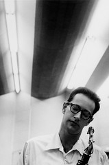 Paul Desmond, Los Angeles recording session, 1954, by Bob Willoughby
