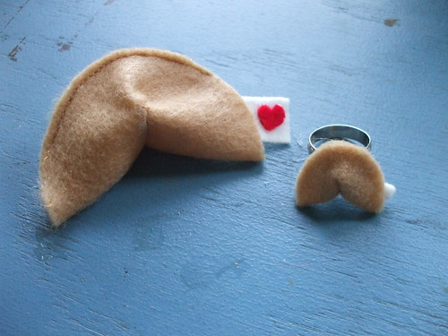 heartfelt fortune cookies + rings for Valentine's Day!