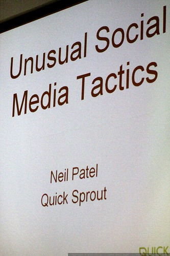 slide   unusual social media tactics   neil patel   sleazy linkbait panel   sempdx searchfest 2009    MG 9611