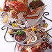 seafood tower with dungeness crab