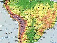 Mapa parcial de América del Sur