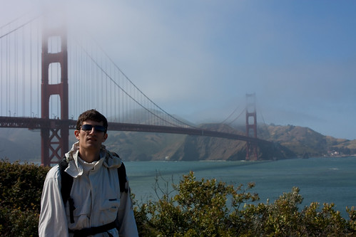 San Francisco - Me, in front of the Golden Gate Bridge