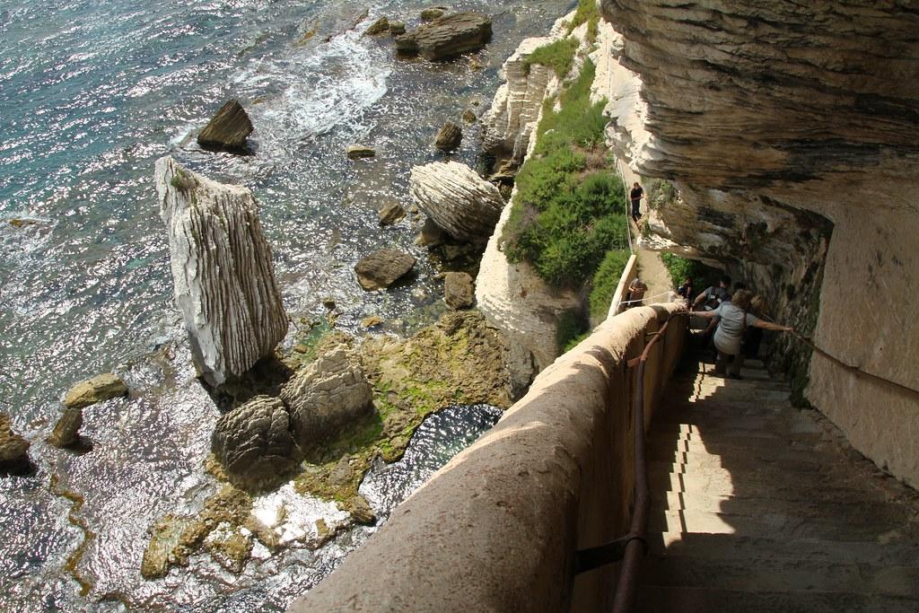 Escalier du Roi d'Aragon à Bonifacio