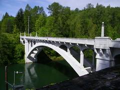 reservoir, river, arch bridge, waterway, bridge,