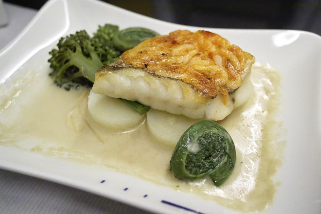 ANA NRT-SFO Business Class Dinner, Main
