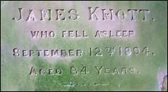 James Knott, who fell asleep