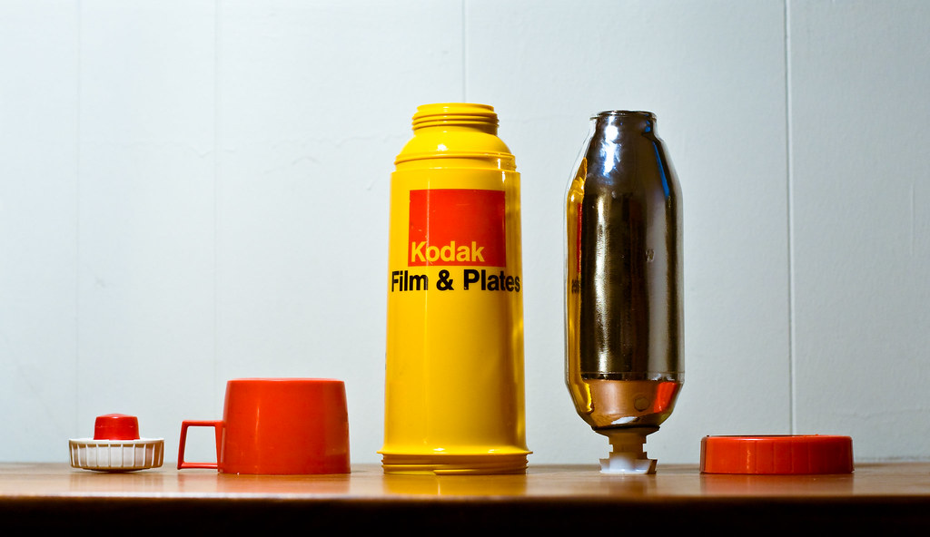 Exploded Kodak Thermos   Cleaned and ready for tomorrow's co