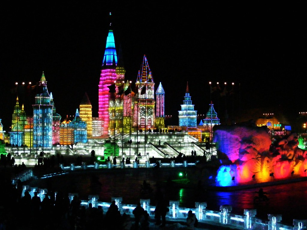 Snow and Ice World festival in Harbin, China