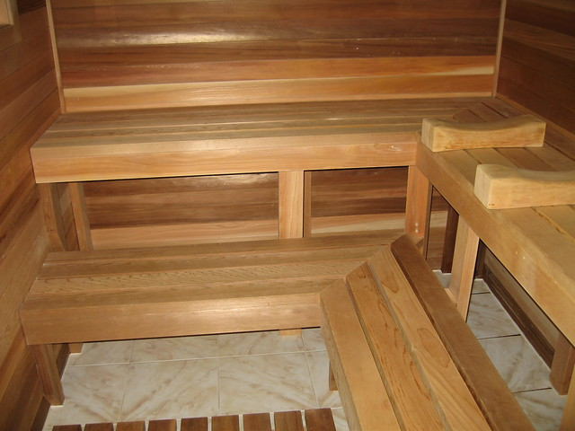 basement sauna bench flickr photo sharing. Black Bedroom Furniture Sets. Home Design Ideas