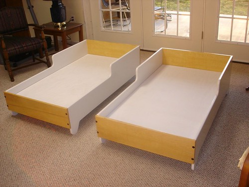 Ideal Grandfather Makes Toddler Beds for the Twins